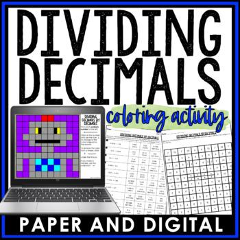 Dividing Decimals by Decimals Coloring Activity