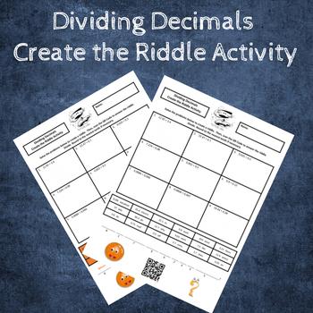 Dividing Decimals Create the Riddle Activity