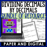 Dividing Decimals by Decimals Lesson Bundle 6.NS.B.3