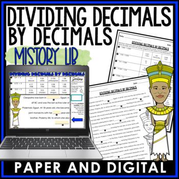Dividing Decimals by Decimals Mistory Lib