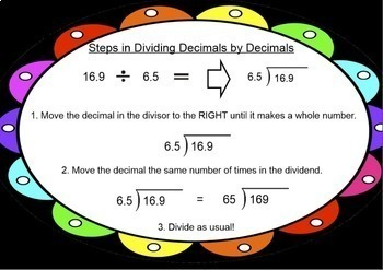 Dividing Decimals by Decimals Smartboard Lesson Divide Decimal by Decimal