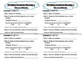 Dividing Decimals by Decimals using Estimating