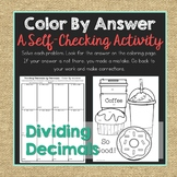 Dividing Decimals by Decimals Color By Answer