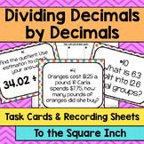 Dividing Decimals by Decimals Task Cards