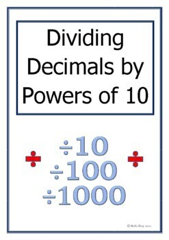 Maths – Dividing by Powers of Ten – Revision - Place Value