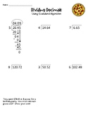 Dividing Decimals by Whole Number HW