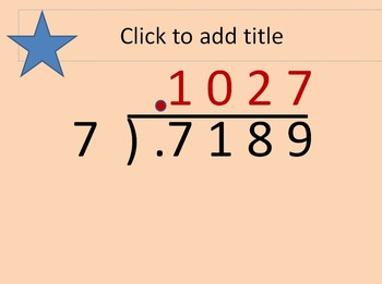 6.NS.B.3 Dividing Decimals by Whole Numbers PPT