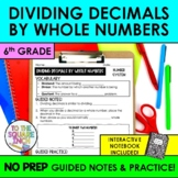 Dividing Decimals by Whole Numbers
