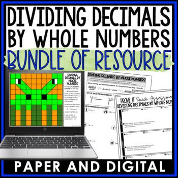 Dividing Decimals by Whole Numbers Lesson Bundle