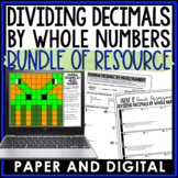 Dividing Decimals by Whole Numbers Lesson Bundle 6.NS.B.3