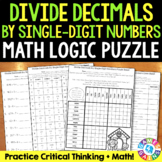 Dividing Decimals by Whole Numbers {5.NBT.7} Math Logic Puzzle