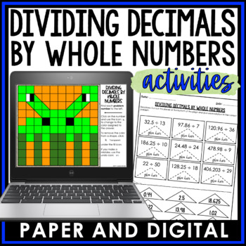 Dividing Decimals by Whole Numbers Activity Pack