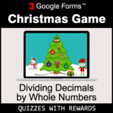 Dividing Decimals by Whole Numbers   Christmas Decoration