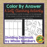Dividing Decimals by Whole Numbers Color By Answer