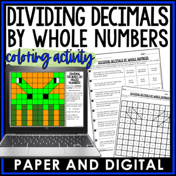 Dividing Decimals by Whole Numbers Coloring Activity