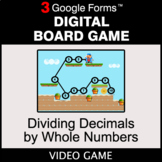 Dividing Decimals by Whole Numbers - Digital Board Game |
