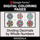 Dividing Decimals by Whole Numbers - Digital Mandala Color