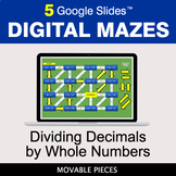 Dividing Decimals by Whole Numbers | Digital Mazes Distanc