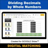 Dividing Decimals by Whole Numbers - Google Slides Distanc