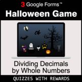 Dividing Decimals by Whole Numbers | Halloween Decoration