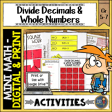 Dividing Decimals by Whole Numbers Math Activities Puzzles and Riddle