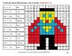 Dividing Decimals by Whole Numbers - Math Mystery Pictures - Superhero