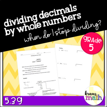 Dividing Decimals by Whole Numbers: Step-by-Step Notes & Practice
