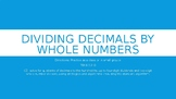 Dividing Decimals by Whole Numbers PPT TEKS 5.3G