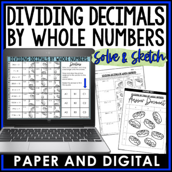 Dividing Decimals by Whole Numbers Solve and Sketch
