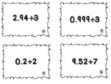Dividing Decimals by Whole Numbers Task Cards (SOL 5.5)