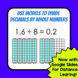 Dividing Decimals by Whole Numbers Using Models - Practice and Homework