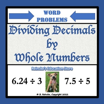 Dividing Decimals by Whole Numbers Word Problems (2 worksheets)
