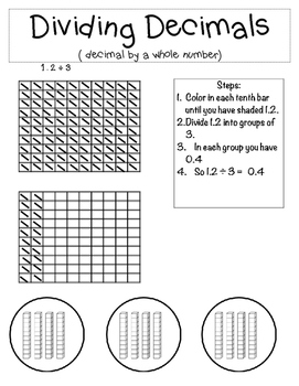 Dividing Decimals by a Whole Number Notebooking Page