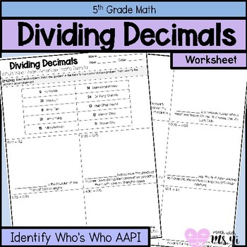 Dividing Decimals for Asian American Pacific Islander Month Distance Learning