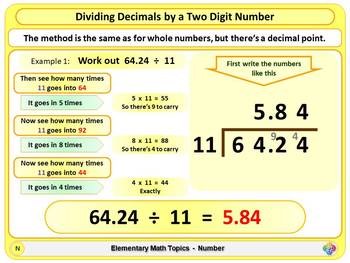 Dividing Decimals for Elementary School Math
