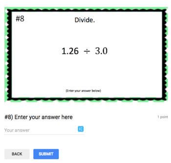 Dividing Decimals for Google Classroom (2 different levels!)