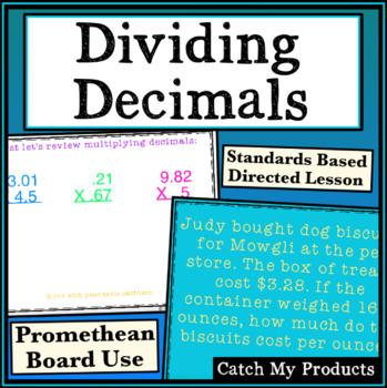 Dividing Decimals for Promethean Board