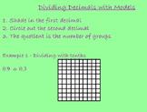 Dividing Decimals with Hundreds Grids