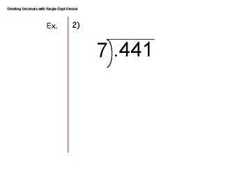 Dividing Decimals with Single Digit Divisors