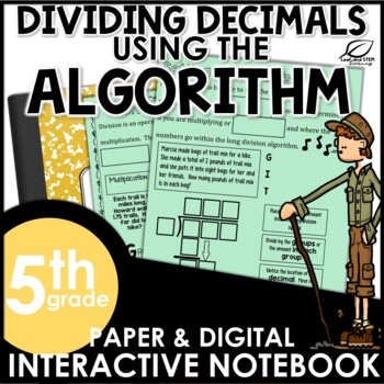 Dividing Decimals with the Algorithm Interactive Notebook Set