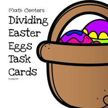 (3 Day Freebie) Dividing Easter Eggs Task Cards