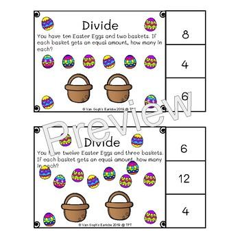Dividing Easter Eggs Task Cards