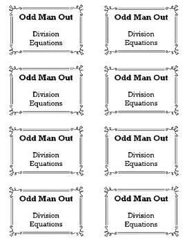 Dividing Equations - Odd Man Out