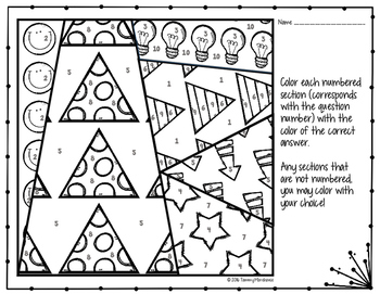 Dividing Exponents Coloring Page