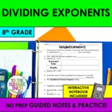 Dividing Exponents Notes