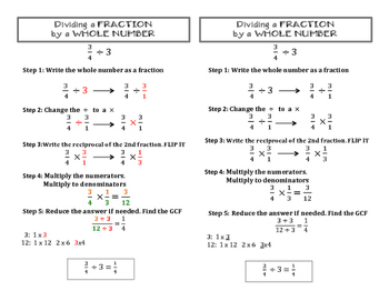Dividing Fraction by a Whole Number