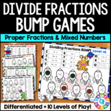 Dividing Fractions & Dividing Mixed Numbers Bump Games {5.NF.7, 6.NS.1}