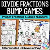 Dividing Fractions & Dividing Mixed Numbers Bump Games {5.NF.7, 6.NS.1}