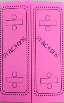 Fractions - Dividing Foldable
