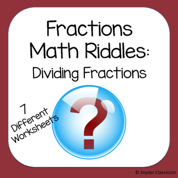 Dividing Fractions Math Riddles